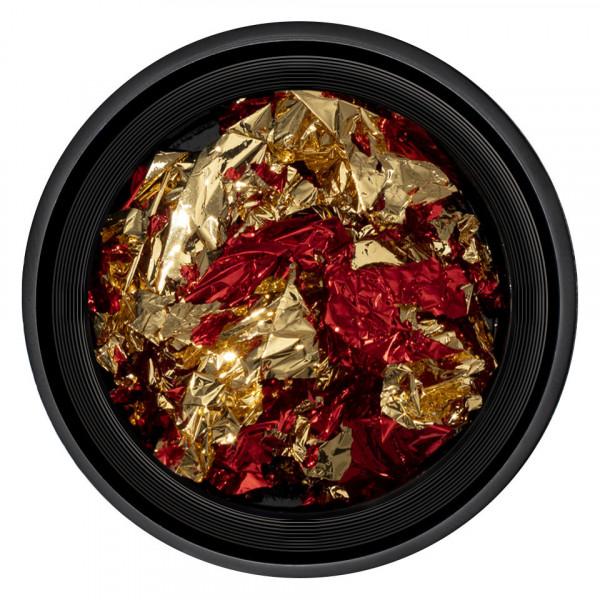 Poze Foita Unghii LUXORISE - Unique Red & Gold #07