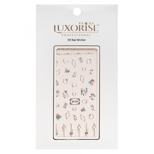 Poze Folie Sticker 3D unghii LUXORISE- SP104