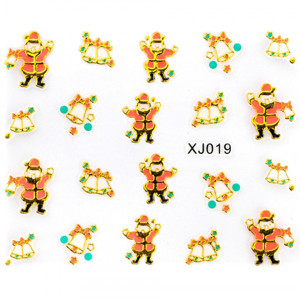 Poze Folie Sticker 3D unghii, model xj019