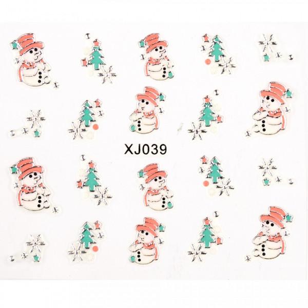 Poze Folie Sticker 3D unghii, model XJ039