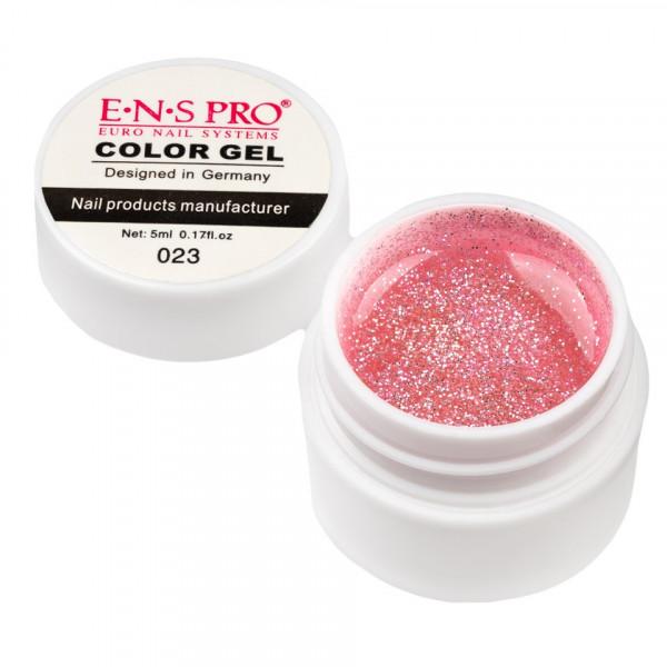 Poze Gel UV Color cu Sclipici ENS PRO #023 - Pink Agenda
