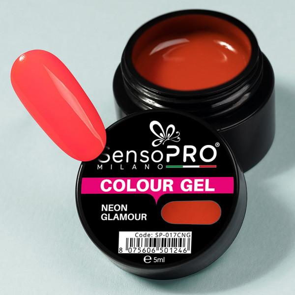 Poze Gel UV Colorat Neon Glamour 5ml, SensoPRO Milano