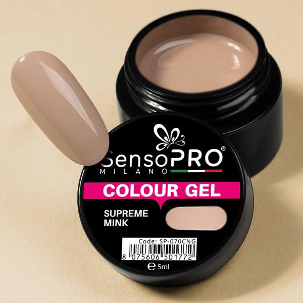 Poze Gel UV Colorat Supreme Mink 5ml, SensoPRO Milano