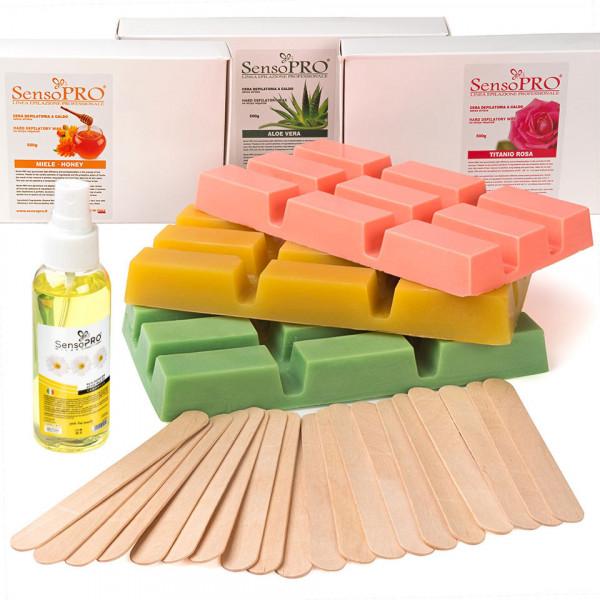 Poze Kit Epilare Ceara Consumabile SensoPRO Italia Delicious Body