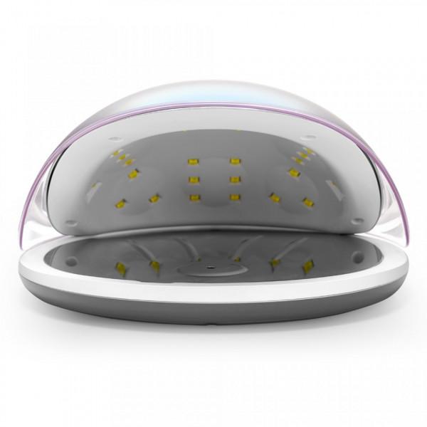 Poze Lampa unghii UV LED 36W Crystal PRO - LUXORISE Germania, Roz Safir