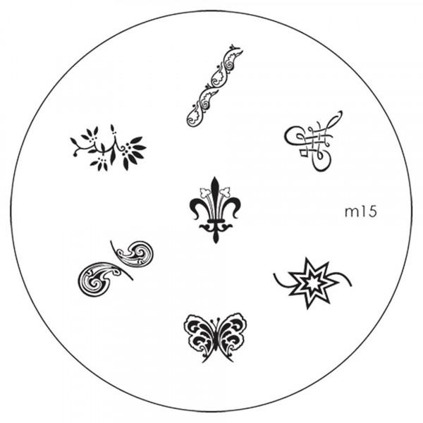 Poze Matrita Metalica Stampila Unghii M15 - Nature
