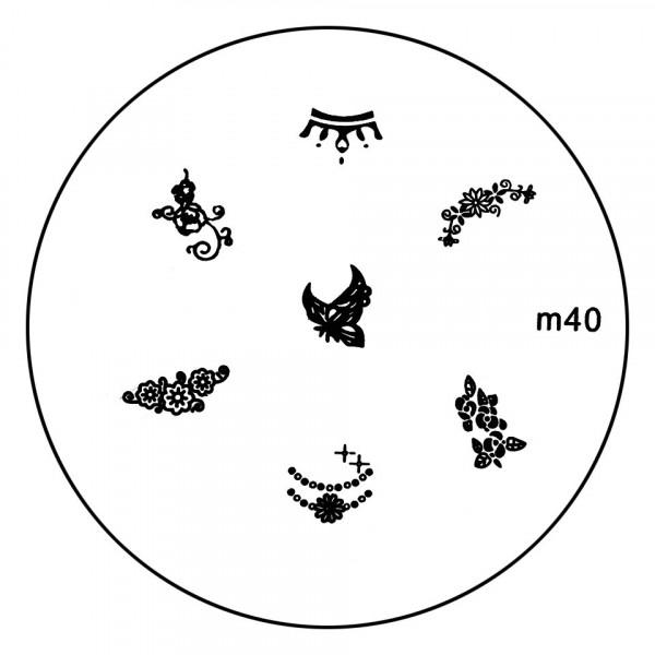 Poze Matrita Metalica Stampila Unghii M40 - Nature