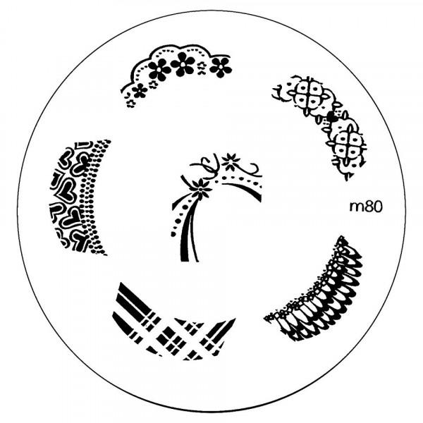 Poze Matrita Metalica Stampila Unghii M80 - Nature