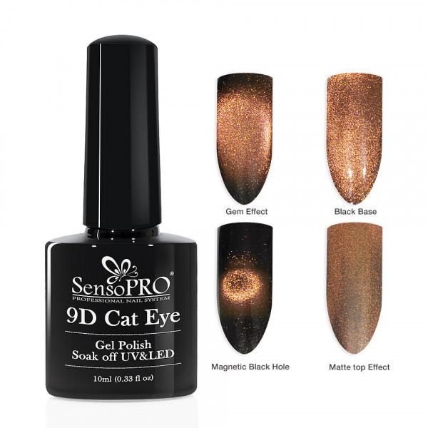 Poze Oja Semipermanenta 9D Cat Eye #14 Mense - SensoPRO 10 ml