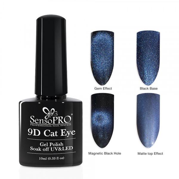 Poze Oja Semipermanenta 9D Cat Eye #24 Gruis - SensoPRO 10 ml