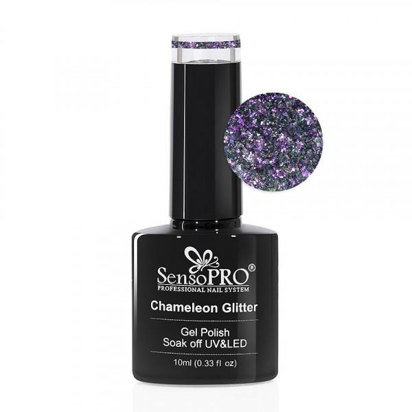 Poze Oja Semipermanenta Cameleon Glitter SensoPRO 10ml - 008 Magic Soul