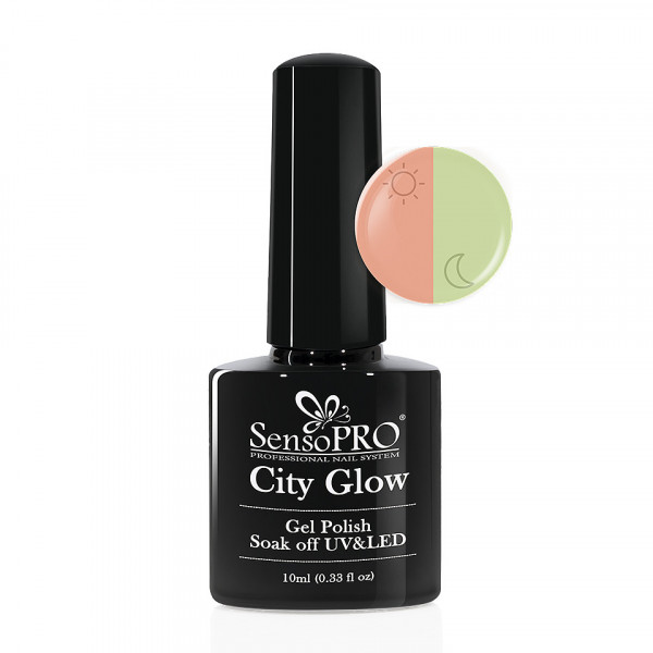 Poze Oja Semipermanenta City Glow SensoPRO 10ml #04 Fresh Peach