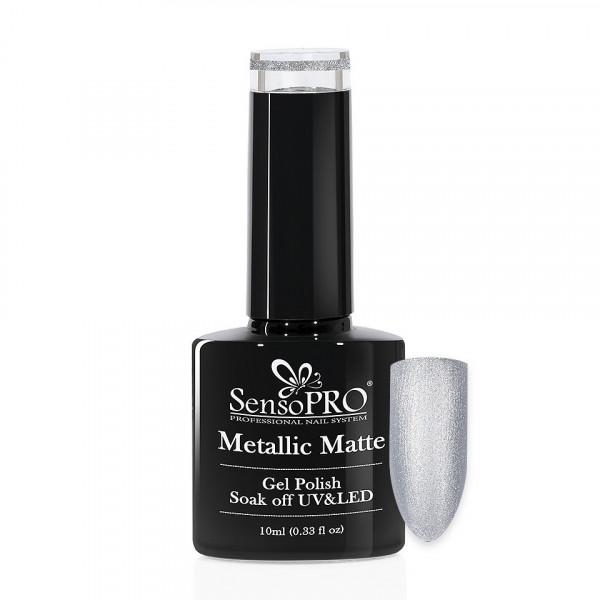 Poze Oja Semipermanenta Metallic Matte SensoPRO 10ml, Slate Gray #010
