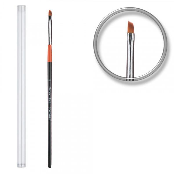 Poze Pensula unghii aplicare gel nr.3 cu etui tubular - Orange Tulip