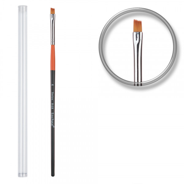 Poze Pensula unghii aplicare gel UV nr.4 cu etui tubular - Orange Vanilla