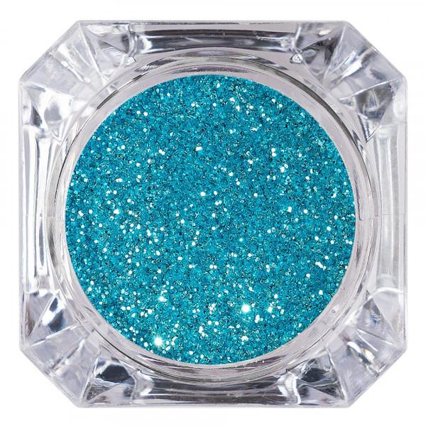 Poze Sclipici Glitter Unghii Pulbere LUXORISE, Caribbean Blue #12