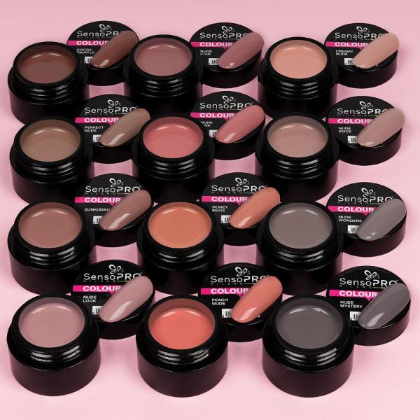 Poze Set 12 Geluri UV Colorate Nude Temptation Collection, SensoPRO Milano