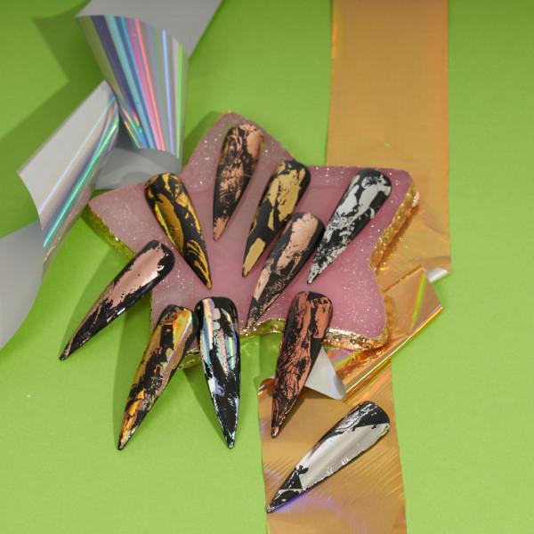 Poze Set Folii Transfer LUXORISE #15 Shiny Colors, 10 buc