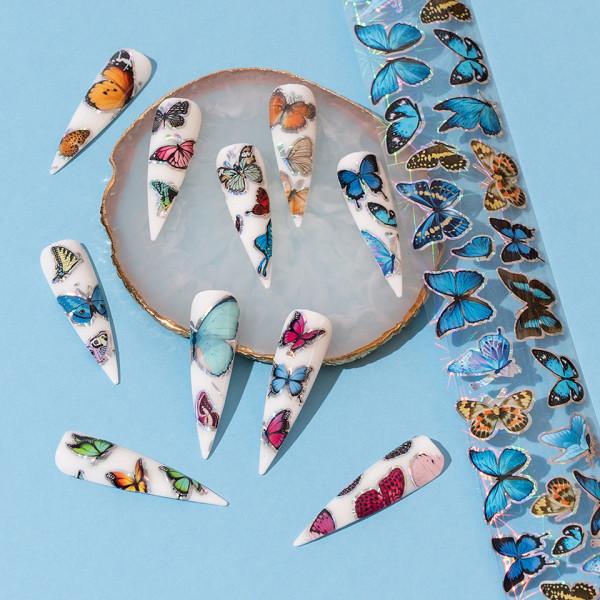 Poze Set Folii Transfer LUXORISE #31 Butterfly, 10 buc