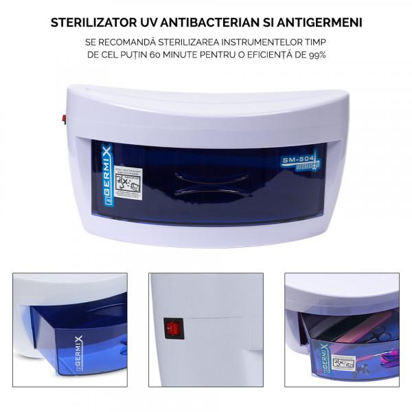 Poze Sterilizator UV Germix cu un sertar pentru ustensile manichiura si coafor