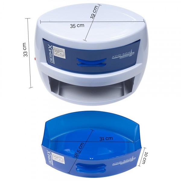 Poze Sterilizator UV Germix dublu, sterilizator ustensile cu 2 sertare