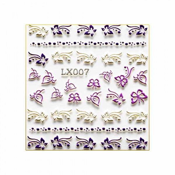 Poze Sticker 3D Unghii LUXORISE Adventure LX007