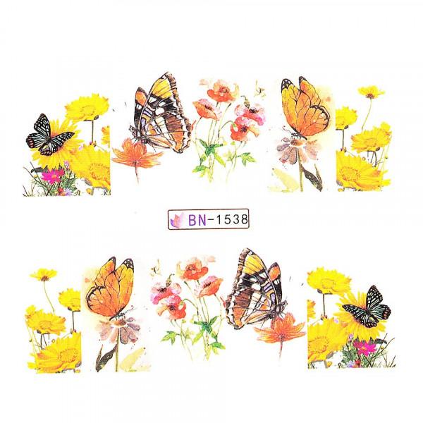 Poze Tatuaj unghii LUXORISE, Butterfly BN-1538