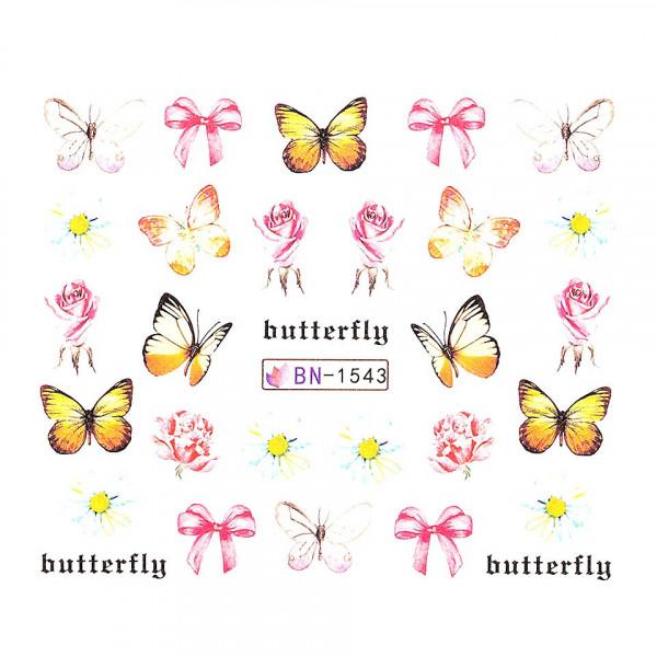 Poze Tatuaj unghii LUXORISE, Butterfly BN-1543