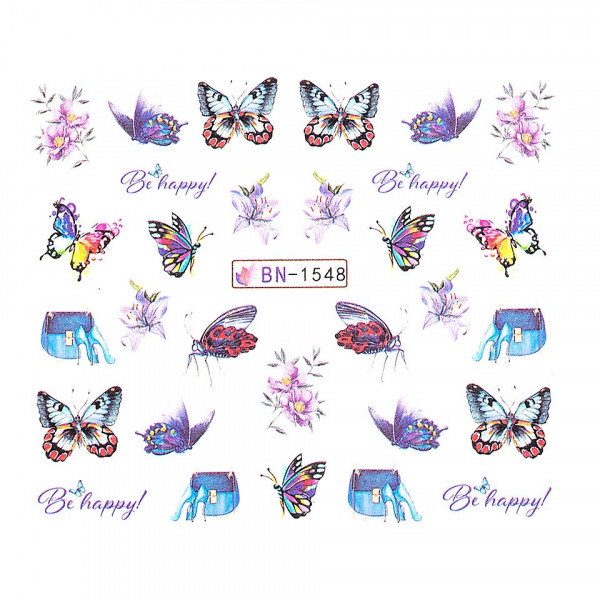 Poze Tatuaj unghii LUXORISE, Butterfly BN-1548