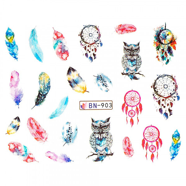 Poze Tatuaj unghii LUXORISE, Dream Catcher BN-903