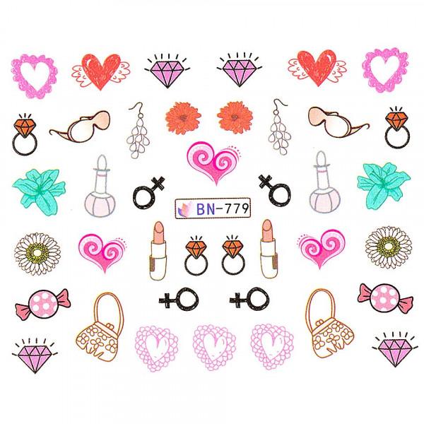 Poze Tatuaj unghii LUXORISE, Love BN-779