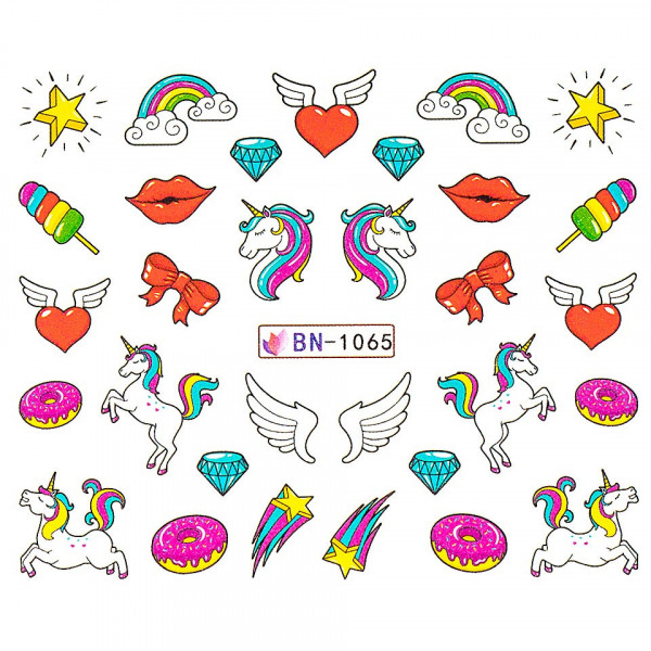 Poze Tatuaj unghii LUXORISE, Unicorn BN-1065
