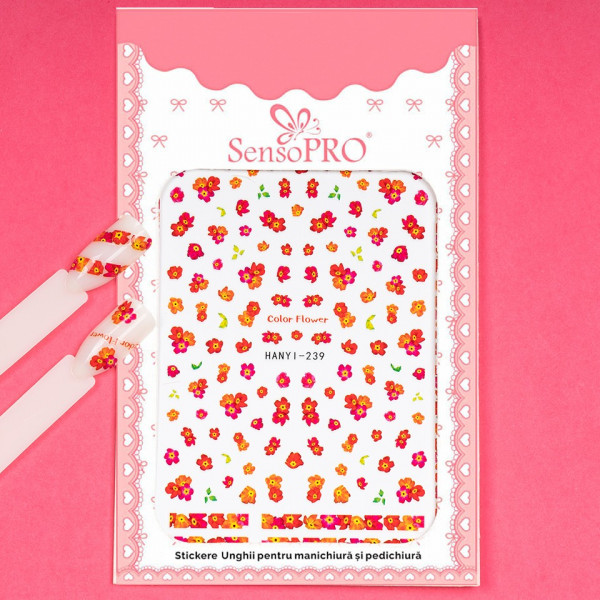 Poze Abtibilduri unghii SensoPRO Art in Bloom, model HANYI 239