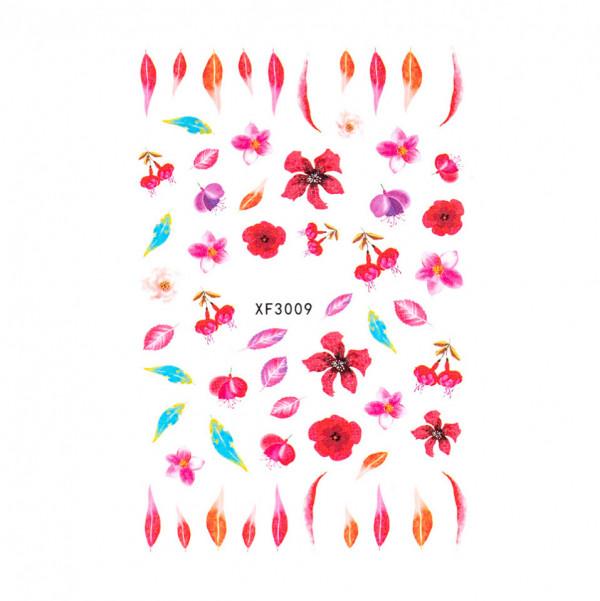 Poze Abtibilduri unghii SensoPRO Art in Bloom, model XF3009