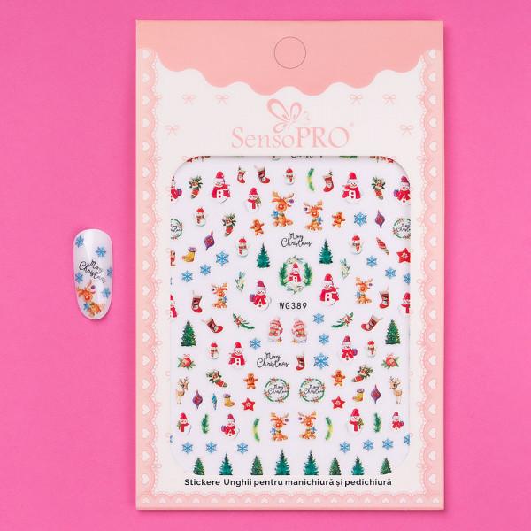 Poze Abtibilduri unghii SensoPRO Christmas, model WG389