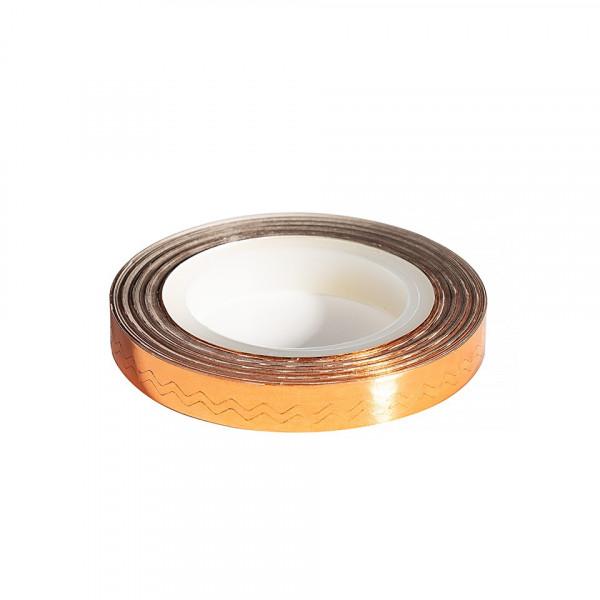 Poze Banda Decor Unghii - Copper Waves Line