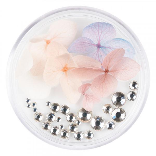 Poze Flori Uscate Unghii LUXORISE cu cristale - Floral Fairytale #09