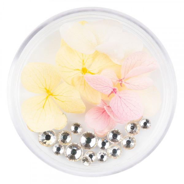 Poze Flori Uscate Unghii LUXORISE cu cristale - Floral Fairytale #14