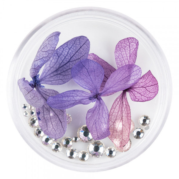 Poze Flori Uscate Unghii LUXORISE cu cristale - Floral Fairytale #19