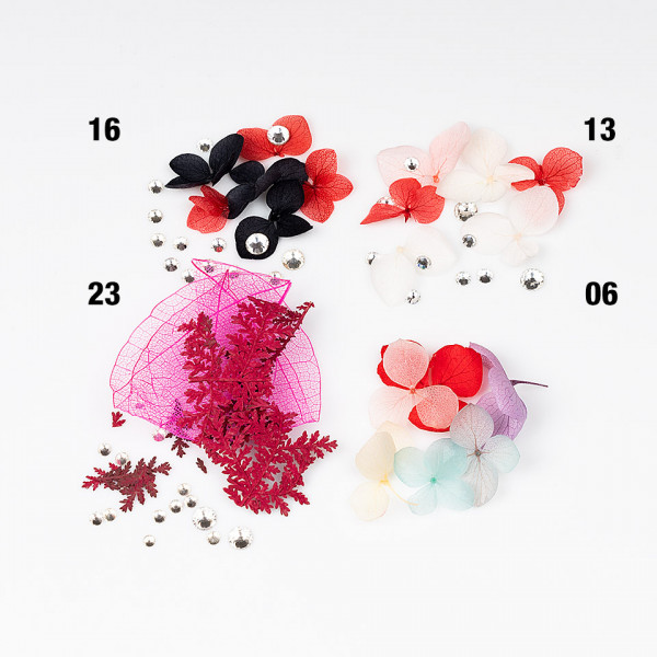 Poze Flori Uscate Unghii LUXORISE cu cristale - Floral Fairytale #23