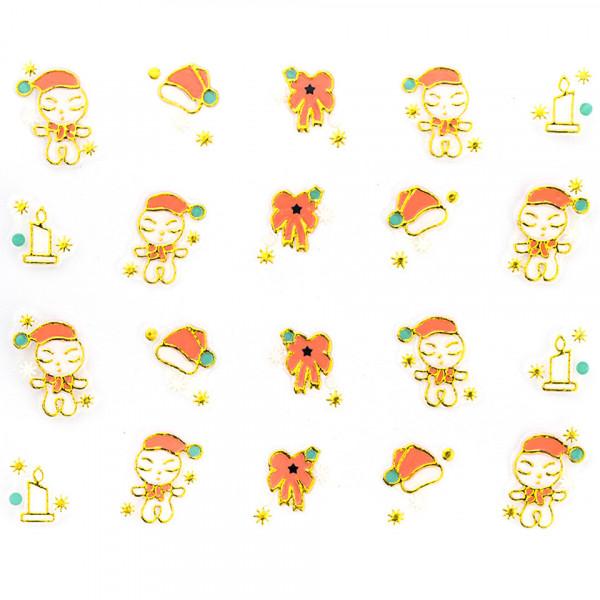 Poze Folie Sticker 3D unghii, model xj014