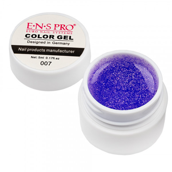 Poze Gel UV Color cu Sclipici ENS PRO #007 - Purple Gem
