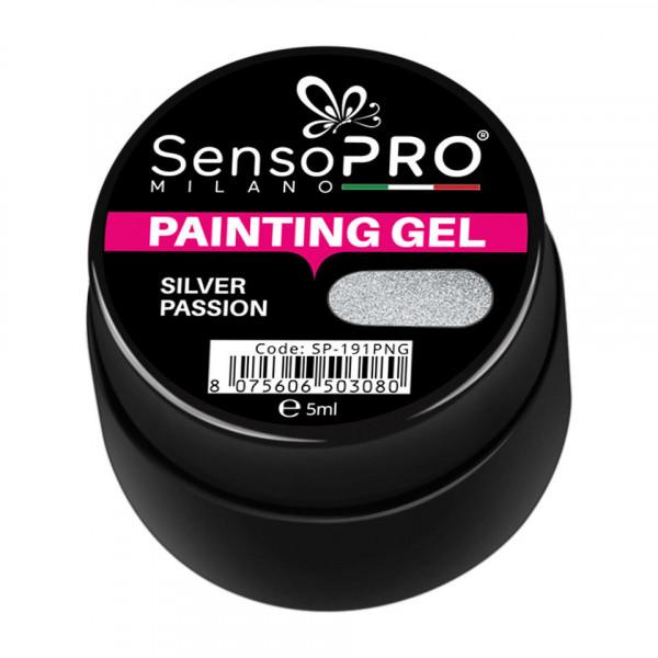 Poze Gel UV Pictura Unghii Silver Passion 5ml, SensoPRO Milano