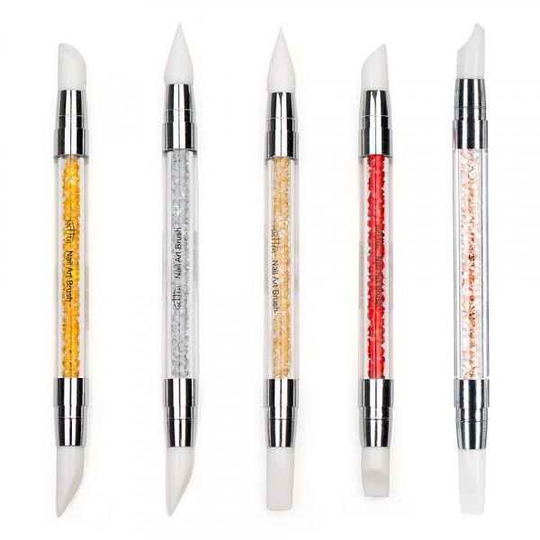 Poze Instrumente Silicon Duble pentru Pictura, Sculptura, Unghii False - Luxury Edition