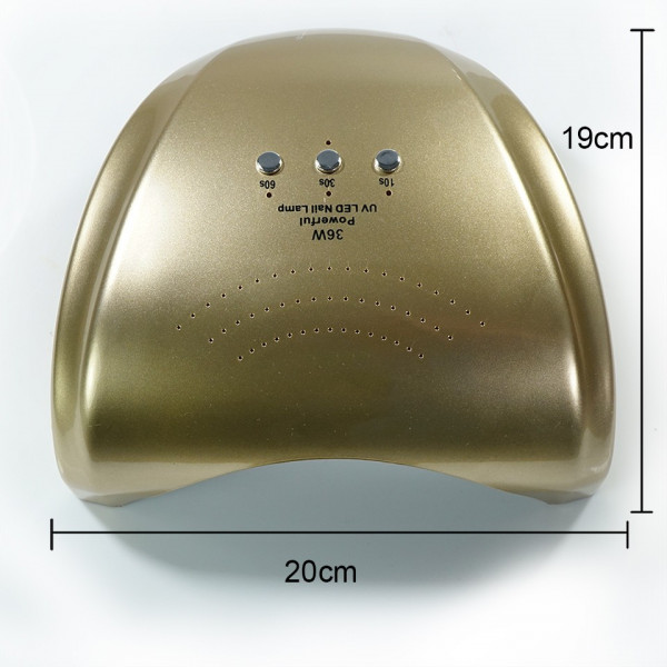 Poze Lampa LED UV Hybrid 36W ENS PRO Germania, DOUBLE Light LED, culoare Gold