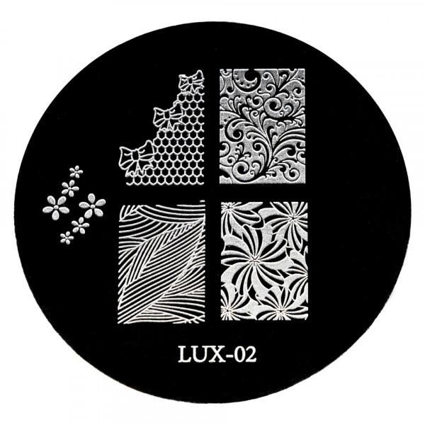 Poze Matrita Metalica Stampila Unghii LUX-02 - Nature