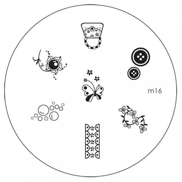 Poze Matrita Metalica Stampila Unghii M16 - Nature