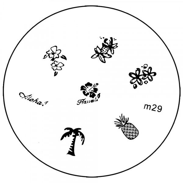 Poze Matrita Metalica Stampila Unghii M29 - Nature