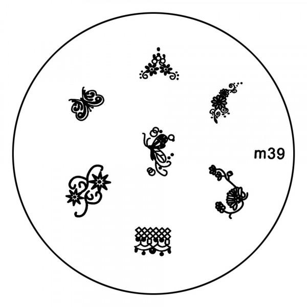 Poze Matrita Metalica Stampila Unghii M39 - Nature