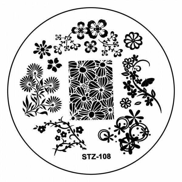Poze Matrita Metalica Stampila Unghii STZ-108 - Nature